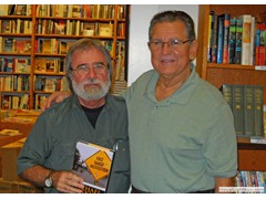 Key West Island Books Book Signing Jan 2012 Stairway to the Bottom Julio
