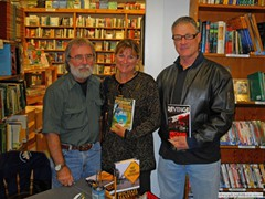 Key West Island Books Book Signing Jan 2012 Stairway to the Bottom Marcie and Tom