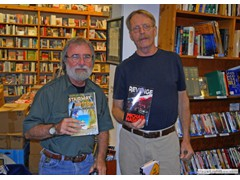 Key West Island Books Book Signing Jan 2012 Stairway to the Bottom Burt