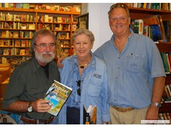 Key West Island Books Book Signing Jan 2012 Stairway to the Bottom Nancy and David