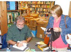 Key West Island Books Book Signing Jan 2012 Stairway to the Bottom Sue
